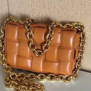 Bottega veneta cassette chain bag caramel gold hdw